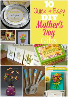 10 Quick & Easy DIY Mother's Day Gifts
