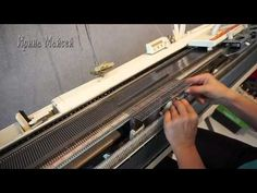 Частичное вязание на машине нева 5
