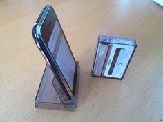 cassett case, idea, cassett tape, lifehack, life hack, iphon stand, tapes, tape case, diy