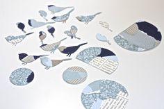 Great Idea! Memory Box die- Perched Reedbird 98160 Poppystamps die- Nestled Bird 817
