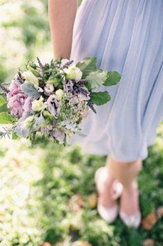 powder blue and lavender bridesmaid