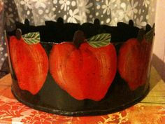 Tin Apple Bowl Primitive by TheCookieClutch on Etsy, $22.00