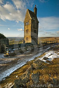 The Pigeon Tower is above the village of Rivington, Lancashire, UK.