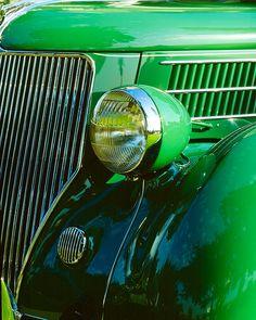 Detail of 1936 Ford V8 Fordor Deluxe