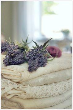 Old linens, I love the lavender