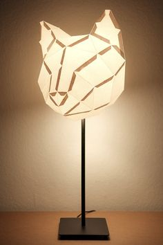 Cat lampshade DIY with template