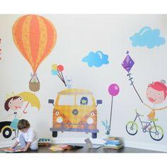 #summerinthecity #modernnursery con motivo, pare pintada, pintada con, motivo infantil, summerinthec modernnurseri, time wall, wall stickers, nurseri decor