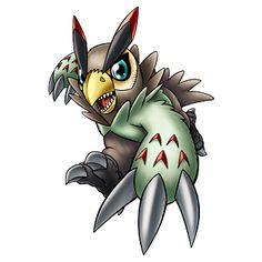 Falcomon - Rookie level Bird digimon