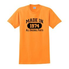 Amazon.com: Made in 1974 40th Birthday T-Shirt: Clothing