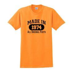 Amazon.com: Made in 1974 40th Birthday T-Shirt: Clothing