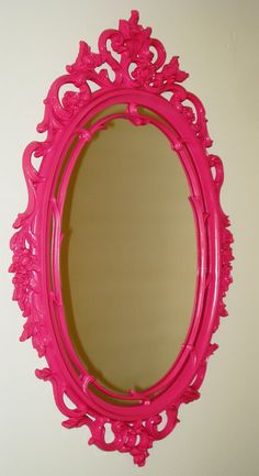Pink Hollywood Regency Mirror. Oh I want this!