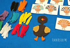 Why don't you throw a little holiday twist into your homemade games for kids by letting them play this Turkey Craft Matching Game? Easy Thanksgiving crafts are perfect for your kids to do to keep them occupied while you are preparing for the hustle and bustle of the holiday season. | AllFreeKidsCrafts.com