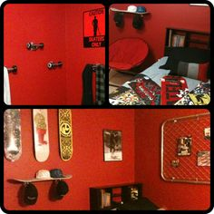 skateboard themed bedroom love the ideas but with blues not red