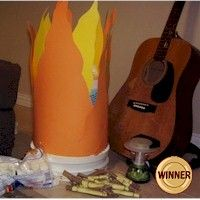 Campfire Sing A Long Craft for those times when you can't meet outside because of the rain. More camp crafts at www.freekidscrafts.com.