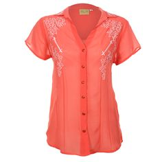 Shyanne® Women's Sheer Short Sleeve Western Shirt