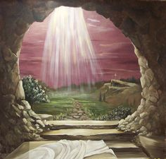He died and is risen!  We have HOPE for this life and beyond!  Alleluia!  http://allisterlm.files.wordpress.com/2009/03/empty_tomb_104.jpg easter, faith, jesus, christian art, children, bible, kids, roman, egg