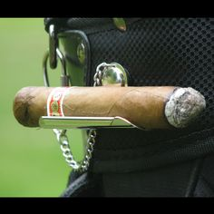Golf Cigar Holder (Engravable)- because you don't want to lose your stogie while you are exercising? :0/
