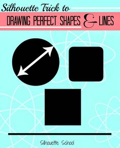 How to Draw a Perfect Circle, Square or Straight Line in Silhouette Studio #silhouette #silhouettetutorials #silhouetteamerica www.silhouetteschool.blogspot.com