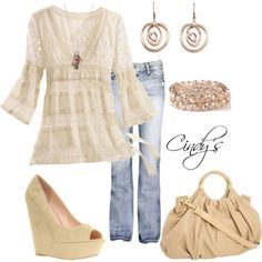 jean, lace tops, style, vintage lace, heel