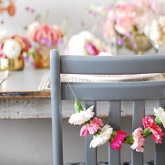 Flower bunting | garnations