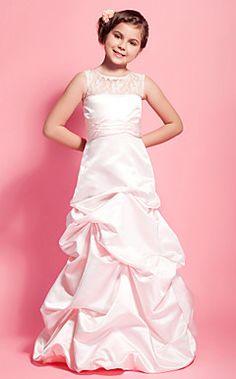 bridesmaids, scoop floorlength, satin lace, skirts, floors, the dress, floorlength satin, alin scoop, junior bridesmaid dresses