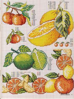 Citrus Free Cross Stitch Pattern