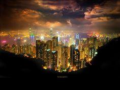 The World's Most Stunning Skyline: Hong Kong Island, Hong Kong, China.