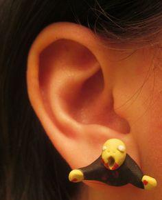 zombi brain, post earring, fashion zombi, zombi post, fun zombi, zombi product, zombies, zombi shop, earrings