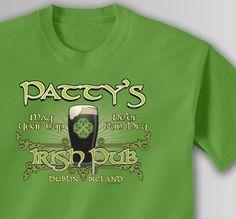 Personalized Classic Irish Pub