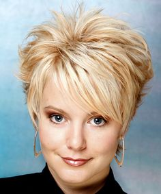 Short Layered Hairstyles for Women Over 50 with Round Faces   Alternative Short Straight Hairstyle - - 8541   TheHairStyler.com Short Haircuts, Layered Hairstyles, Hair Cut, Fine Hair, Short Hairstyles, Short Styles, Hair Style, Alternative Hair, Blonde Hairstyles