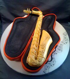 saxophone grooms cake!