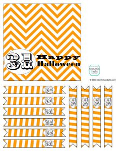 Printable Halloween Bag Toppers and Party Picks