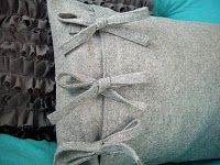 side tie pillow tutorial