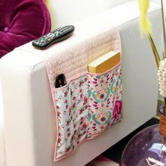 Sew organized; tidy up your sofa area with this simple sewing project! thanks so xox