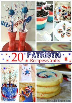 Patriotic Recipes, 4th of July Crafts,