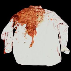 Color photo of President Kennedy's shirt day of assassination, 1963