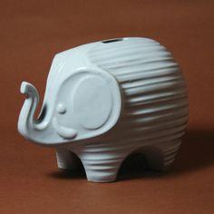 eleph bank, light blue, piggy banks, blue eleph, jonathan adler