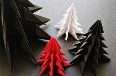 Origami Xmas Trees