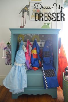 Forget dress-up... Storage for the kids' backpacks/ school stuff in the kitchen?