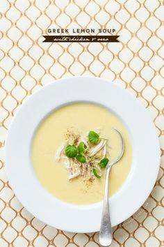 Greek Lemon Soup with Chicken and Orzo is a quick and easy winter meal.