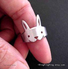 rabbit ring, Bunny legs wrap around your finger