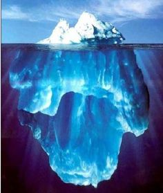 an Iceberg from top to bottom..