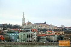 Perfect View of Matthias Church from the River - Budapest Hungary