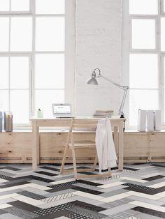 workspace patterned tiles