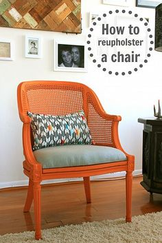 How to reupholster a chair - DIY