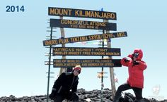 New Kilimanjaro summit sign brings the rustic feel back to the top!