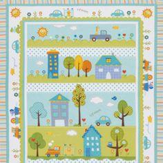 Dena Fishbein - Happi - Panel Quilt in Blue