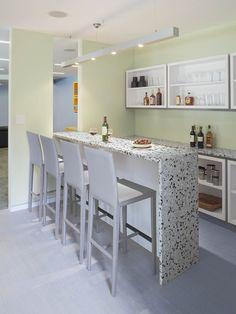 Bar for Unfinished Basement Loft idea.