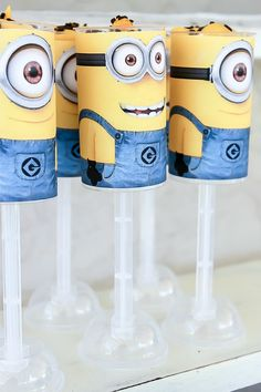 Despicable Me 2 Party by @Tonya Seemann Staab. Love these cake pops! http://www.tonyastaab.com/2013/06/despicable-me-2-party.html