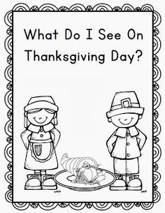 Thanksgiving Emergent Reader Kindergarten